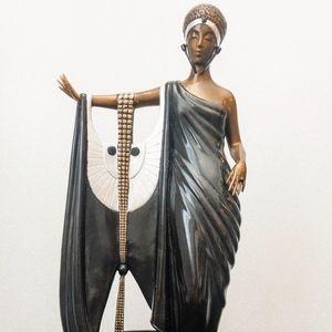 "Erte ""Sophisticated Lady"" Bronze Sculpture"